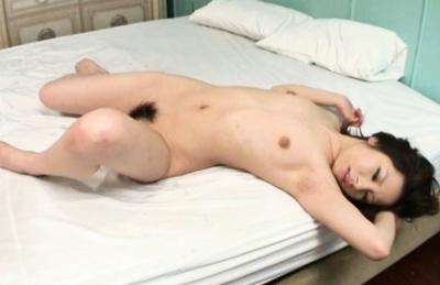 Amu Kosaka Pretty Asian chick gets a messy creampie