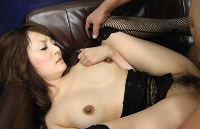 Hot milf Karen Miyajima totally creamed in the ass!