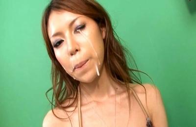 Rino Asuka Pretty Asian doll enjoys sucking cock