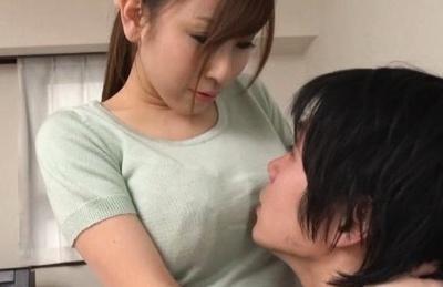 Sweet Japanese milf in sexy lingerie Erika Kitagawa rides her lover